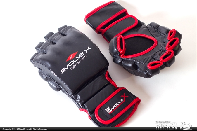 Evolve-X Leather MMA Sparring Gloves